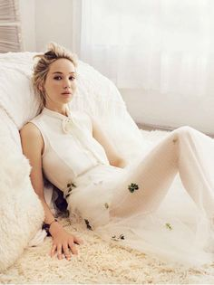Leading lady Jennifer Lawrence is a striking vision on the February 2017 cover of Marie Claire France. The 'Passengers' star wears a Dior look in the Sebastian Kim lensed image. For the accompanying spread, Jennifer poses in ethereal styles from the French label's spring collection. The 26-year-old looks absolutely divine in a selection of tulle …