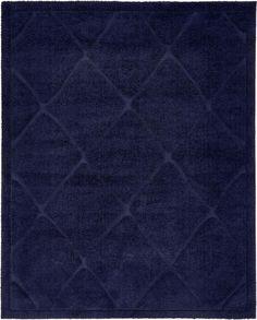 Navy Blue 8u0027 X 10u0027 Trellis Shag Rug | Area Rugs | ESaleRugs