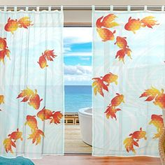 USAKI(ユサキ)高品質 おしゃれ 薄手 柔らかい シェードカーテン紗 ドアカーテン,きれい 和柄 和風 花柄 和室,装飾 窓 部屋 玄関 ベッドルーム 客間用 遮光 カーテン (幅:140cm x丈:210cmx2枚組)