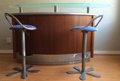 Elegant Contemporary Freestanding Martini Home Bar w 2 Bar Stools Chairs | eBay