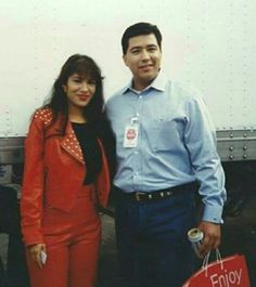 Israel Garcia with Selena Quintanilla in Houston