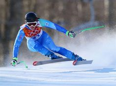 DAY 6: Tina Maze of Slovenia competes during the Alpine Skiing Women's Downhill