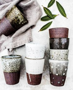 Image of Speckle beaker Ceramics Ceramic Cups, Ceramic Pottery, Ceramic Art, Pottery Mugs, Glazed Pottery, Pottery Classes, Pottery Designs, Pottery Ideas, Creations