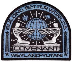 Velcro Aliens Covenant Movie Prometheus Weyland Corp Crew Uniform Cosplay Patch