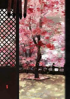 Anime Cherry Blossom, Planets Wallpaper, Cherry Tree, Asian Style, Some Pictures, Asian Art, Red Roses, Oriental, Scenery