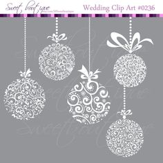 WHITE Christmas Ball Digital balls Pendants by MSweetboutique, $5.99
