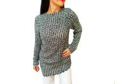 ON SALE // Grey Ladies Tunic Sweater Dress Knitting by aynikki