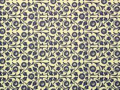 """*Italienisches Papier Carta Varese - Dekor """"Viticcio Fiore blau"""""""