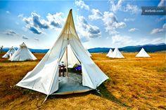 Camping yellowstone pan tee pee