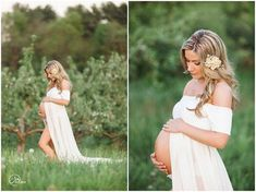 Short Sleeve Maternity Gown / Cameron Gown by SewTrendyAccessories