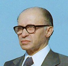 Menachem Begin ~ Prime Minister of Israel from 20 June 1977   – 10 October 1983