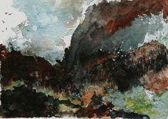 November (Aquarell von 2003) Watercolor Art, November, Sketches, Drawings, Prints, Poster, Painting, Watercolor Painting, Fantasy