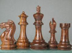 Weighted Staunton Chess Set Rose Wood w/o Board 4 Queen. http://www.chessbazaar.com/chess-pieces/wooden-chess-pieces/weighted-staunton-chess-set-rose-wood-w-o-board-4-queen.html