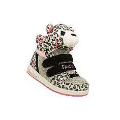 Skechers- -Toddler Girl's Athletic Shoe Sugar Pets Plush Animal Hightop