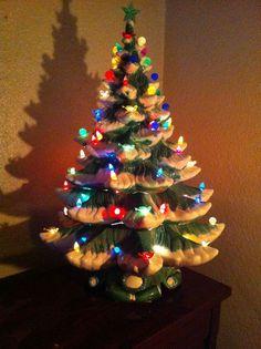Light-Up Ceramic Christmas Tree | Chandeliers & Pendant Lights ...