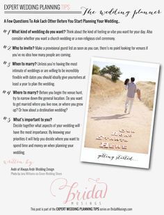 Expert Wedding Planning Tips For Newly Engaged Couples:It's Your Wedding..The Only One's to Please Are Yourselves.