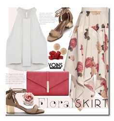 """""""Yoins -  The Perfect Summer Floral Skirt"""" by beebeely-look ❤ liked on Polyvore featuring A.W.A.K.E., Carolina Bucci, Clutch, Floralskirts, summersandals, yoins and yoinscollection"""