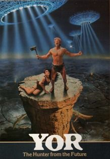 Our last film salute to the great (and not so great) caveman genre concludes with Yor, the Hunter from the Future. We've looked at prehistoric cavemen. The Future Movie, Sci Fi Fantasy, Horror, Fan Art, Movies, Films, Retro, Movie Posters, Occult