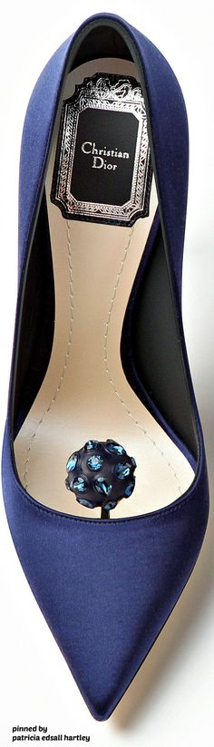 d5e8a4f17918 Rosamaria G Frangini   ShoeAddict   Christian Dior 2016 Navy Blue Shoes  Chaussures Vintage, Chaussures