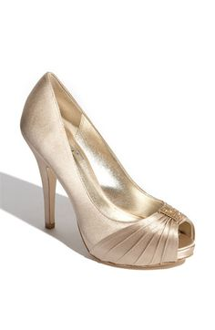 Miss Ace 2 Dark Champagne Wedding Heels, Taupe Satin Bridal Heels ...