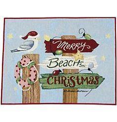 Beachy Christmas sign