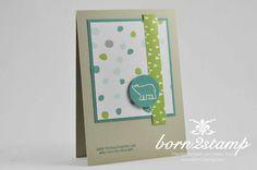 STAMPIN' UP! born2stamp Weihnachtskarte Weiße Weihnacht Aus dem Haeuschen Stille Nacht Washi DSP Embossing
