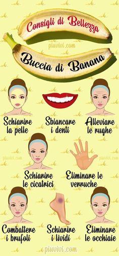 Banana Peel For Beauty- Buccia Di Banana Per La Bellezza Ba. Beauty Hacks Lips, Beauty Secrets, Face Care, Body Care, Ancient Beauty, Natural Beauty Tips, Homemade Skin Care, Beauty Care, Skin Care Tips