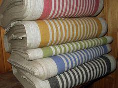 French Canvas pure Linen fabric strips Upholstery Decorator Ecru light Gray Heavy Weight New ECO-friendly - custom yardage via Etsy