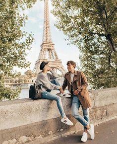 "If the Tour Eiffel is the symbol of Paris, the Cathédrale de Notre-Dame de Paris is its heart. Sitting on the banks of the Seine, this wonderful architectural masterpiece is a definite ""must-see"". Paris Photography, Photography Poses, Travel Photography, Travel Pictures, Travel Photos, Paris Couple, Couples In Paris, Hotel Des Invalides, Villefranche Sur Mer"