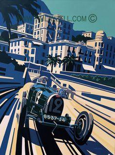 pinterest.com/fra411 #Automotive Art Originals