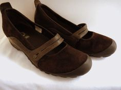 Women's Merrell Plaza Bandeau Chocolate Brown Suede Leather Mary Janes Shoes 10 #Merrell #MaryJanes #fashion #style #casual #comfort #career
