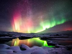 Bucket list travelers, prepare to cross off your trip to see the awe-inspiring Northern Lights. The aurora borealis can be seen in a variety of countries at a variety of times of year, so just choose one of these 15 destinations in North America, Iceland, Northern Lights Tours, See The Northern Lights, Northern Lights Iceland, Aurora Borealis, Best Places To Travel, Places To See, Solar Licht, Photography Tours, Landscape Photography