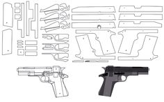 3D Printing, RC, CNC & Laser Projects: blowback rubber band gun                                                                                                                                                     More