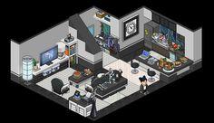 20 Habbo Rooms Ideas Isometric Art Pixel Art Game Art