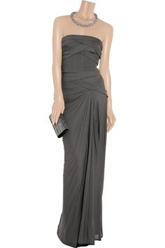 Bandage stretch-jersey strapless gown by Amanda Wakeley - would like this in a different color