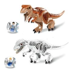 2Pcslot Tyrannosaurus Rex Building Toys Mini Figures Bricks CZP ** Details can be found by clicking on the image.