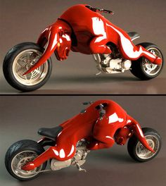 Red Bull Motorcycle      Red Bull themed motorcycle designed by Barrend Massow Hemmes.