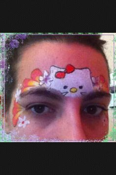 Hello kitty tiara face painting face painting ideas for kids