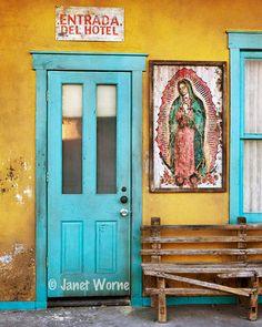 Porte bleue photographie couleur NouveauMexique par jworne sur Etsy, $35.00