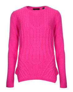 Cable knit sweater - Mid Pink | Sweaters | Ted Baker