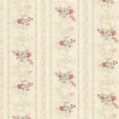 Maury Beige Floral Bouquet Stripe