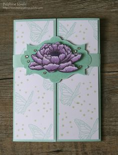 Shimmer and Shine - Fancy Folds Blog Hop #3: Shutter card - Mother's Day