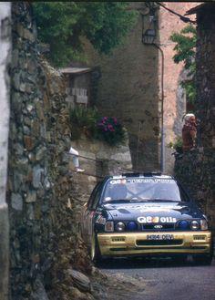 François Delecour - Anne-Chantal Pauwels (Ford Sierra Cosworth 4X4) Tour de Corse 1991 - L'Automobile juin 1991