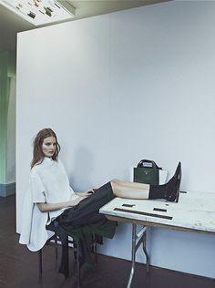 """New School"", Tilda Lindstam photographed by Sebastian Kim in Intermission #7"