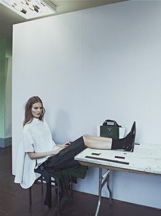 """New School"", Tilda Lindstam photographed by Sebastian Kim in Intermission #7"