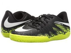 Nike Kids Jr Hypervenom Phelon II IC Soccer (Toddler/Little Kid/Big Kid) (Black/Volt/Paramount Blue/White) Kids Shoes