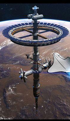 Resultado de imagem para sci fi station d