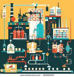 soda factory vector - Google 검색