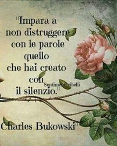 **************Learn to not destroy with words what you have created with silence V Quote, Words Quotes, Love Quotes, General Quotes, Motivational Quotes, Inspirational Quotes, Italian Quotes, Lessons Learned In Life, Charles Bukowski