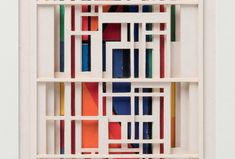 #alvaraaltomuseum LINE, SPACE AND COLOUR. Constructions by Sakari Laitinen - Alvar Aalto Foundation | Alvar Aalto -säätiö Alvar Aalto, Tila, Construction, Exhibitions, Architecture, Artwork, Colour, Space, Home Decor